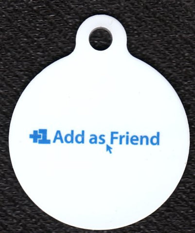 Round Add As A Friend Pet Tag