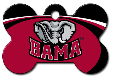 NCAA Alabama Crimson Tide Bone Pet Tag