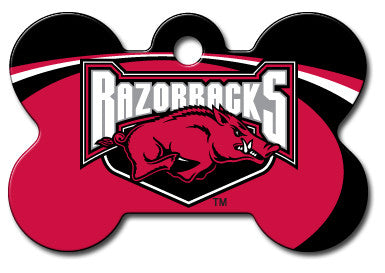 NCAA Arkansas Razorbacks Bone Pet Tag
