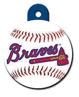 Round MLB Atlanta Braves Pet Tag