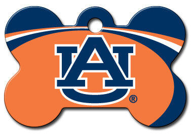 NCAA Auburn Tigers Bone Pet Tag