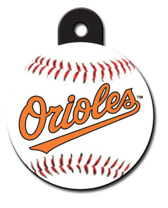 Round MLB Baltimore Orioles Pet Tag