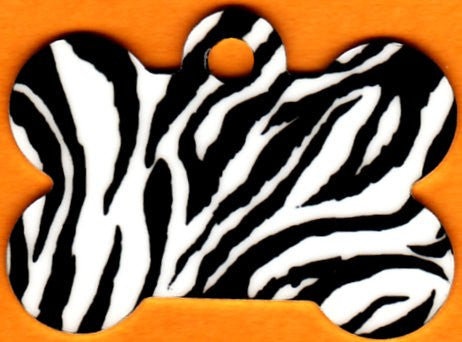 Zebra Stripe 5 Colors Bone Pet Tag