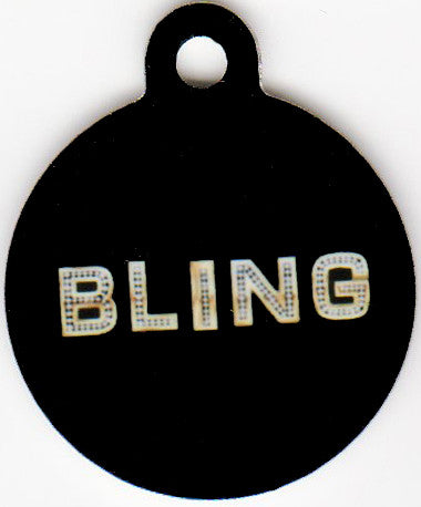 Round BLING Pet Tag