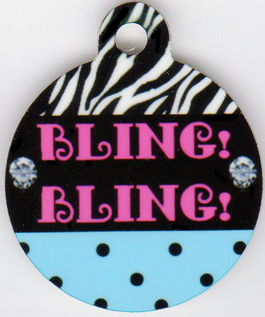 Round BLING BLING Pet Tag