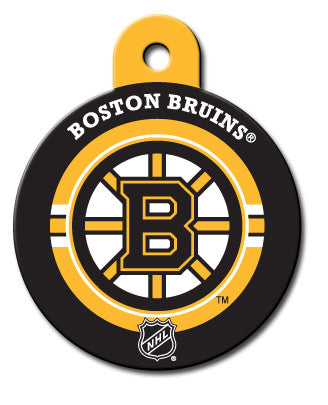 Round NHL Boston Bruins Pet Tag