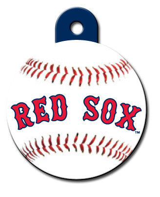 Round MLB Boston Red Sox Pet Tag