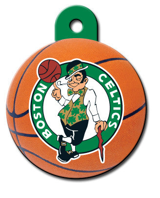 Round NBA Boston Celtics Pet Tag