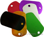 Anodized Mini Military Dog Tag