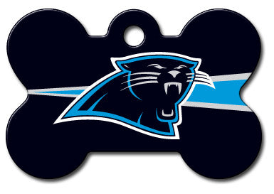 NFL Carolina Panthers Bone Pet Tag