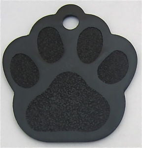 Anodized Paw Print Pet ID Tag 8 Colors