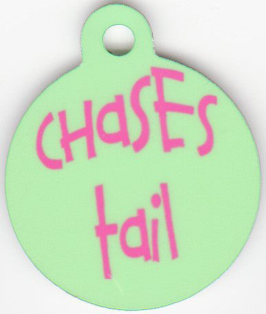 Round Chases Tail Pet Tag