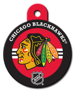 Round NHL Chicago Blackhawks Pet Tag