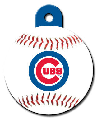 Round MLB Chicago Cubs Pet Tag