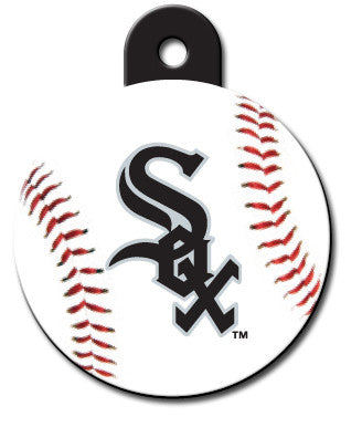 Round MLB Chicago White Sox Pet Tag