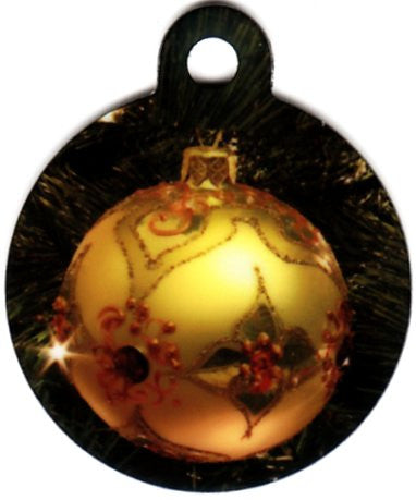 Round Christmas Tree With Gold Ornament