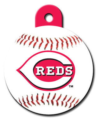 Round MLB Cincinnati Reds Pet Tag