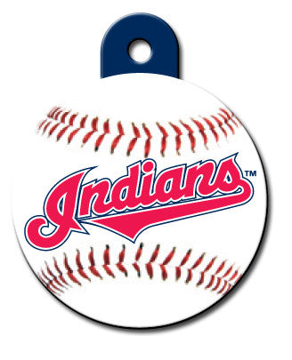 Round MLB Cleveland Indians Pet Tag