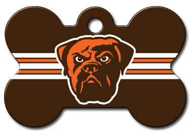 NFL Cleveland Browns Bone Pet Tag