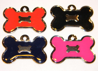 Color Filled Double Bone Pet Tag