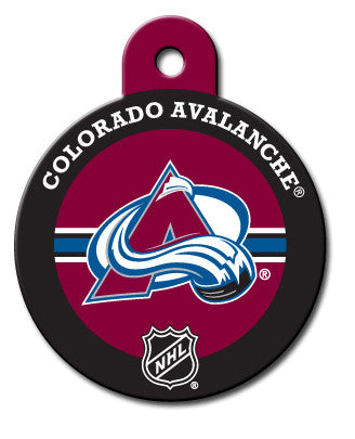 Round NHL Colorado Avalanche Pet Tag