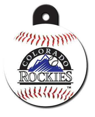 Round MLB Colorado Rockies Pet Tag