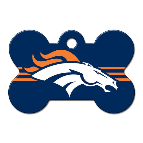 NFL Denver Broncos Bone Pet Tag