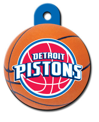 Round NBA Detroit Pistons Pet Tag