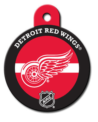 Round NHL Detroit Red Wings Pet Tag