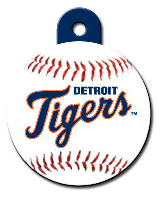 Round MLB Detroit Tigers Pet Tag