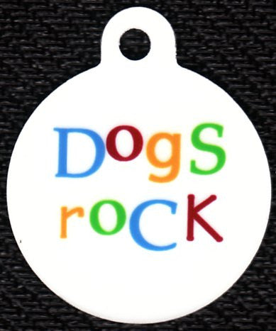 Round Dogs Rock Pet Tag