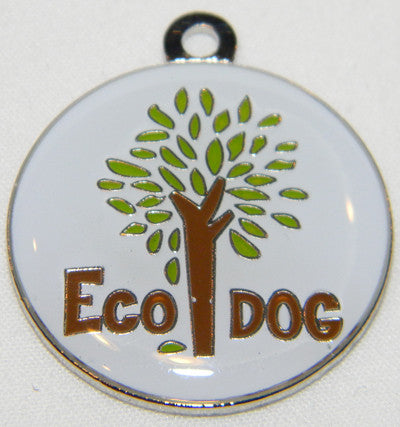 Round Color Filled Eco Dog Pet ID Tag