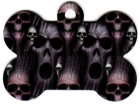 The Dark And Evil Bone Pet Tag
