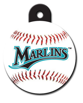 Round MLB Florida Marlins Pet Tag