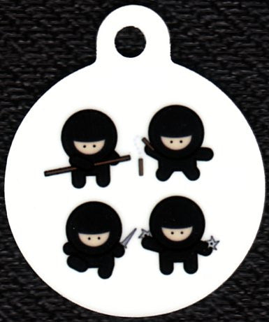 Round Four Ninjas Pet Tag