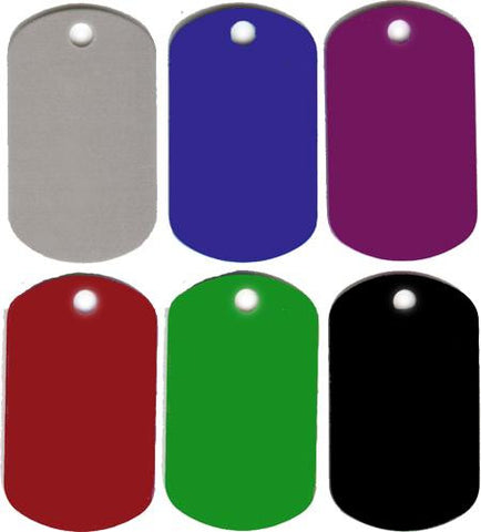 Anodized Military Dog Tag