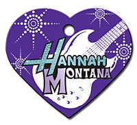 Large Hannah Montana Heart Pet Tag
