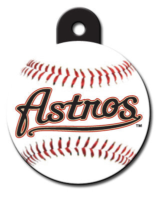 Round MLB Houston Astros Pet Tag
