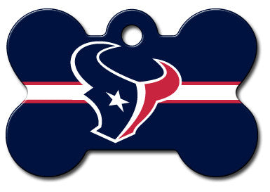 NFL Houston Texans Bone Pet Tag