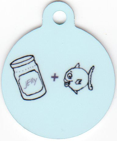 Round Jelly Fish Blue Pet Tag