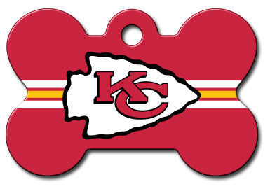 NFL Kansas City Chiefs Bone Pet Tag