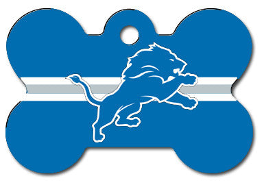 NFL Detroit Lions Bone Pet Tag