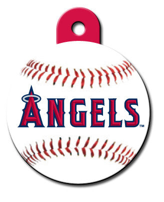 Round MLB LA Angels of Anaheim Pet Tag