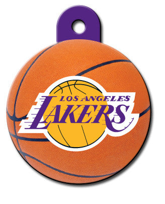 Round NBA LA Lakers Pet Tag