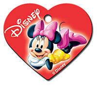 Large Red Minnie Heart Pet Tag