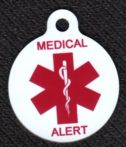 Round Medical Alert Pet ID Tag