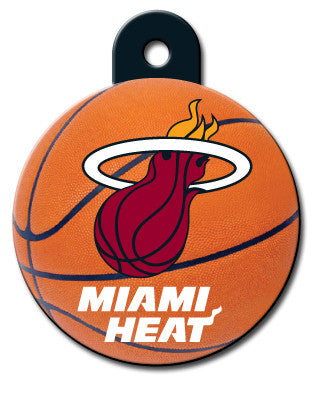 Round NBA Miami Heat Pet Tag