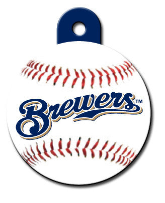 MLB Round Milwaukee Brewers Pet Tag