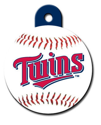 Round MLB Minnesota Twins Pet Tag
