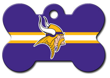 NFL Minnesota Vikings Bone Pet Tag